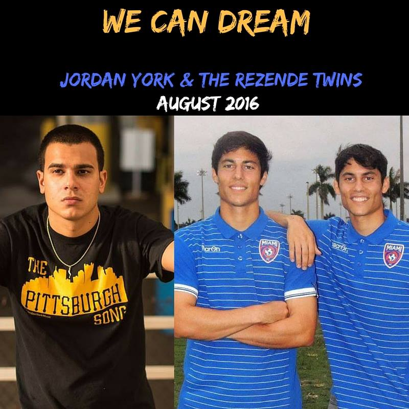Jordan York teams up with pro soccer standouts Connor & Calvin Rezende from Miami FC