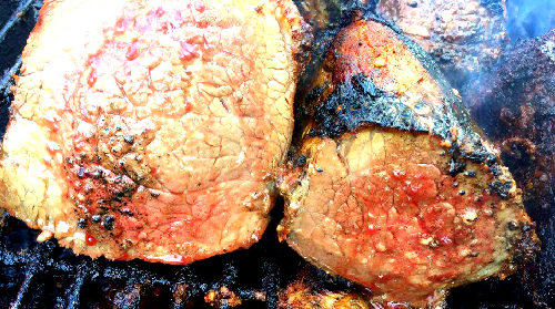 Big Fat Daddy's Seared Beef is cooked over high heat yet remains juicy..